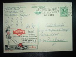 CP PUBLIBEL 2460 F ENTIER POUR LA FRANCE 2F50 OBL.MEC.216 III 1970 NAMUR + NIAGARA + TONDEUSE - Stamped Stationery