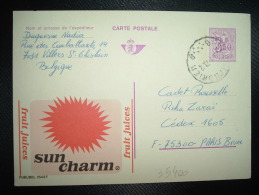 CP PUBLIBEL 2543 F ENTIER POUR LA FRANCE 3F50 OBL.26-1-73 St SYMPHORIEN + SUN CHARM FRUIT JUICES - Enteros Postales