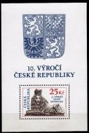 Czech Republic 2003 The 10th Anniversary Of Czech Republic.Lion.S/S.MNH - Czech Republic