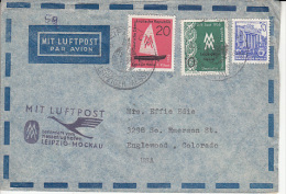 Germany Airmail Cover To USA    (Z-3624) - [6] Oost-Duitsland