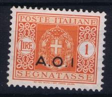 Italy:  Africa Orientale Italiana Sa Nr 9 Segnatasse   MH/* - Africa Orientale Italiana
