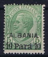 Italy:  Albania Sa Nr 7 MH/* Signed/ Signé/signiert/ Approvato - Buitenlandse Kantoren