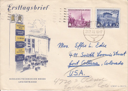 Germany Airmail Cover To USA    (Z-3634) - [6] Oost-Duitsland