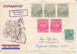 Germany Airmail Cover To USA    (Z-3636) - [6] Oost-Duitsland