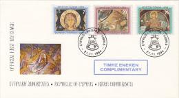 CHRISTMAS, JESUS BIRTH, COVER FDC, 1994, CYPRUS - Zypern (Republik)