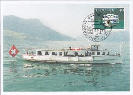 SHIPS, CM, MAXICARD, CARTES MAXIMUM, OBLIT FDC, 2001, SWITZERLAND - Ships