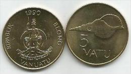Vanuatu 5  Vatu 1990. UNC - Vanuatu