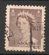 Timbres - Amérique - Canada - 1953 - 1 Cent -