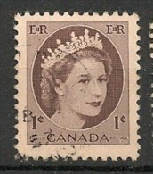 Timbres - Amérique - Canada - 1954 - 1 Cent -