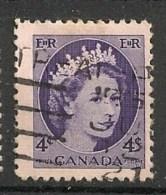Timbres - Amérique - Canada - 1954 - 4 Cents -