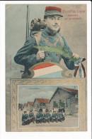 Carte Du 156e ( 156 E ) De Ligne Garnison De TOUL (  Position Du Tireur à Genou )  ( Recto Verso ) - Toul