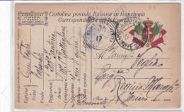 CARD  FRANCHIGIA MILITARE POSTA MILITARE ALBANIA TRUPPE  OCCUPAZIONE 5  23.5.17   -FP-V-2-0882-24193 - Guerre 1914-18