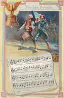 240579-US Patriotic, Nash National Song Series Card No 3, Yankee Doodle, Music And Words, Drum & Fife - Muziek En Musicus