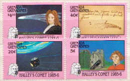 Grenada Grenadines MNH Halley´s Comet Set And SS - Astronomùia
