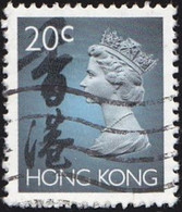 HONG KONG - Scott #630A Queen Elizabeth II / Used Stamp - Used Stamps
