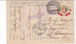 CARD MILITARE IN FRANCHIGIA POSTA MILITARE 2.°DIVISIONE 8-12-17  50°SEZIONE SUSS.  -FP-V-2-0882-24199 - Weltkrieg 1914-18