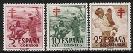 1951-ED. 1103a5-SERIE COMPLETA-PRO TUBERCULOSOS.PINTURAS DE SOROLLA-NUEVO - 1951-60 Nuovi