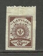 LETTLAND Latvia 1919 Michel 12 B * - Lettonie