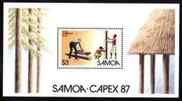 Samoa 1987 Yvertn° Bloc 40 *** MNH Cote 4,30 Euro - Samoa