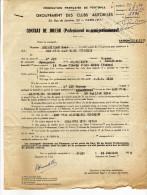 Autographe Du Footballeur Hassan M´JID -Contrat + Note Manuscrite Défenseur Avec Le Red Star Salaire Mensuel - Handtekening