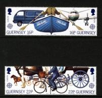 GUERNSEY - 1988 EUROPA CEPT TRANSPORT & COMMUNICATIONS SET (4V) SG 420-423 FINE MNH ** - Europa-CEPT