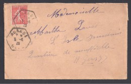 GERS - Cachet Hexagonal De AURADE - Marcophilie (Lettres)