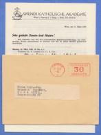 ÖSTERREICH 1958 - 30 Gro Freistempel Auf Brief D.Wr.Kath.Akademie, Brief Mit Inhalt - Historische Dokumente