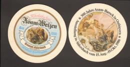 Bierdeckel Rund Brauerei Aldersbach Aldersbacher Asam-Weizen Rückseite 300 Jahre Asam-Barock Ausstellung 1986 - Sous-bocks