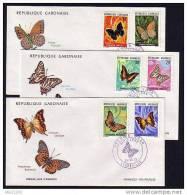 Gabon, Scott Cat. #305-310. Butterflies Issue. First Day Cover - Farfalle