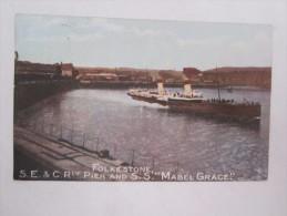 Angleterre Folkestone Pier And S S Mabel Grace - Folkestone
