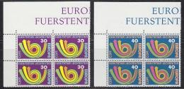 Europa Cept 1973 Liechtenstein 2v Bl Of 4 ** Mnh (19594) - 1973