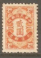 CHINA REPUBLIC    Scott  # J 79* VF UNUSED - Postage Due