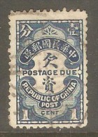 CHINA REPUBLIC    Scott  # J 44 VF USED - Postage Due