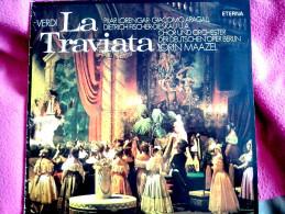 GIUSEPPE VERDI:  LA TRAVIATA   (DIRIGENT: LORINT MAAZEL) DOUBLE WINYL RECORD - Classique