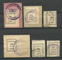 LITAUEN Lithuania 1918 Michel 3 - 8 O Incl Markant Perforation Errors Zähnungsabarten ! - Lithuania
