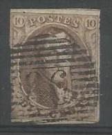 Belgique - Médaillons N°10A(1) Obl. P86 NEUFCHATEAU