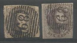 Belgique - Médaillons N°6(1)+10A(1) Obl. P89 NIVELLES - Belgique