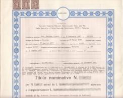 PALERMO 1969 - SICILIA - S.VE.V.A. _ SOC. VENDITA VEICOLI  /  TITOLO PER 500 AZIONI DA LIRE 10.000 - Azioni & Titoli