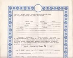 PALERMO 1975 - SICILIA - S.VE.V.A. _ SOC. VENDITA VEICOLI - AUMENTO DI CAPITALE /  TITOLO PER 1000 AZIONI DA LIRE 10.000 - Azioni & Titoli