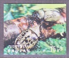 BHUTAN   101 A   *  3 D  STAMP  BEETLES - Holograms