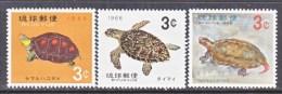 RYUKYU  ISLANDS  136-8  *  TURTLES - Turtles