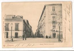 CATANIA - SICILIA - Corso Vittorio Emanuele - animated POSTCARD sent 1902 to URUGUAY