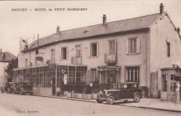 Cpa Ak Pk Saulieu  Hotel Du Petit Marguery Garage Et Pompe A Essence - Saulieu