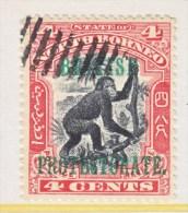 NORTH BORNEO  108   (o)    MONKEY - North Borneo (...-1963)