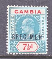 "GAMBIA  54   *   Wmk 3  ""SPECIMEN"" - Gambia (...-1964)"