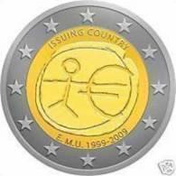 GRECIA 2 Euro 2009 10° ANNIV. Dell´ UNIONE ECONOMICA E MONETARIA - E.M.U. FDC - Grecia