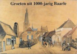 Groeten Uit 1000-jarig BAARLE - Kerkstraat Naar Aquarel Van W.A. Alting Von Geusau - Baarle-Hertog