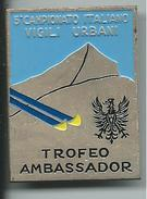 MED029 - SPILLA - 5° CAMPIONATO ITALIANO VIGILI URBANI - TROFEO AMBASSADOR - MONTE BONDONE 1974 - Sport Invernali