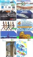Lotto 10 Schede  5000+10000  Lire Usate Tutte Di Tiratura Inferiore Al Milione Di Pezzi Alcune Non Perfette .schede.076 - Italy