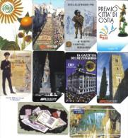 Lotto 10 Schede  5000+10000  Lire Usate Tutte Di Tiratura Inferiore Al Milione Di Pezzi Alcune Non Perfette .schede.077 - Italy